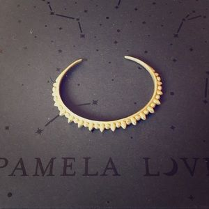 Pamela Love Gold Thin Silver Tribal Spike Cuff